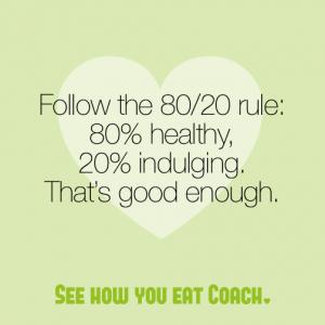 SHYE Coach 80/20 diet rule